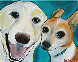 lab & terrier